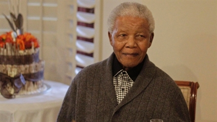 Nelson Mandela celebrates his 94th birthday with family in Qunu, South Africa in 2012.