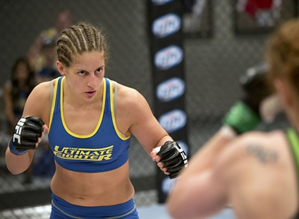 Sarah Moras on The Ultimate Fighter.