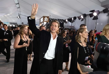 Brad Pitt arrives at the 26th annual Screen Actors Guild Awards at the Shrine Auditorium & Expo Hall on Sunday, Jan. 19, 2020, in Los Angeles.