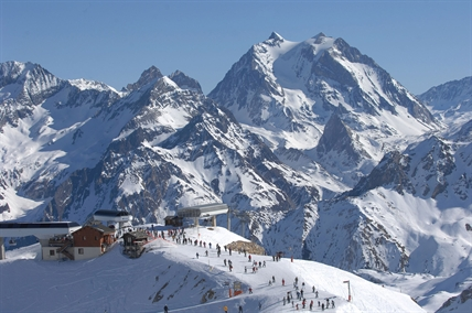 The ski resort in Meribel, France where Michael Schumacher hit his head in a skiing accident.