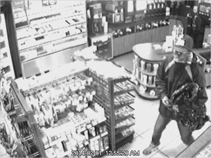 RCMP have released surveillance video images of two suspects in a convenience store robbery.