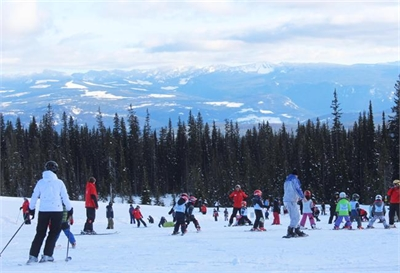 Families take to the slopes during B.C.'s first official Family Day long weekend.