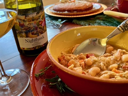 Cassoulet & Chardonnay for the win!