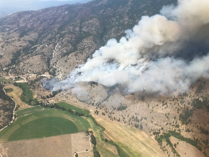 Cabin saved from Thomas Creek Wildfire