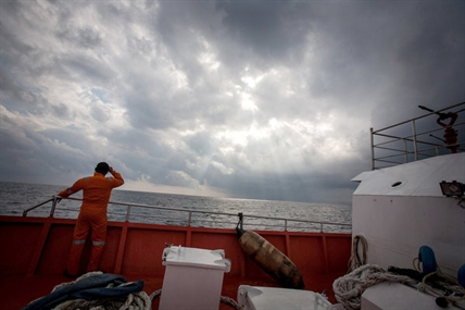 An Indonesian rescue crew searched in the Andaman Sea on Saturday, March 15, 2014.