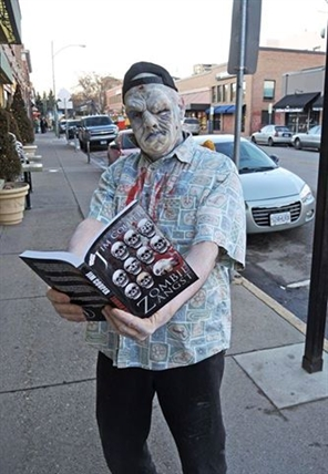 Tony Neville dressed as Zombie Mort at Pulp Fiction in Kelowna Thursday, March 20, 2014.