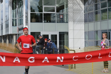 Cache Creek's Ryan Day placed first on the men's side of the Okanagan College Half Marathon on Sunday, April 6, 2014.