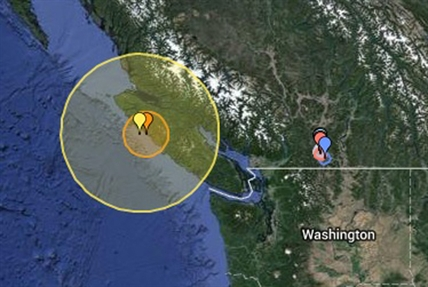 The first of four earthquakes off the coast of Vancouver Island registered 6.6.