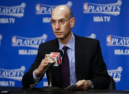 NBA Commissioner Adam Silver answers questions during a news conference on Saturday, April 26, 2014, in Memphis, Tenn.