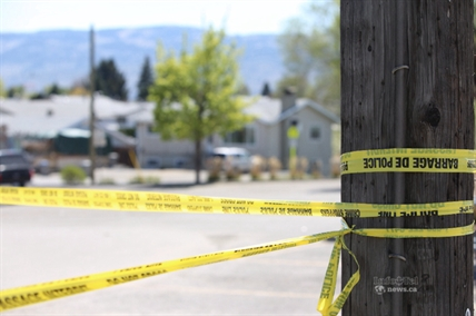 Police cordoned off a section around 769 York Street April 30, 2014 after a suspicious package was reported to RCMP.