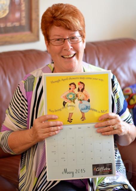 Armstrong singers strike a pose as calendar girls