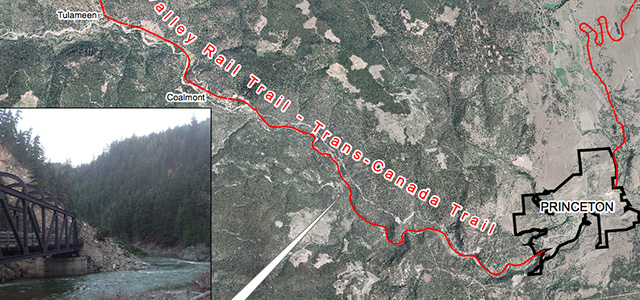 Rail trail north of Princeton closed due to slide  InfoNewsca