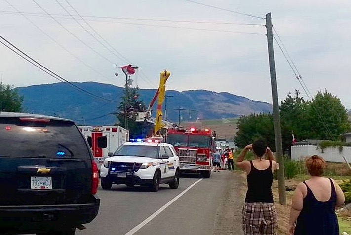 Skydiver hits power lines near Vernon Airport - InfoNews