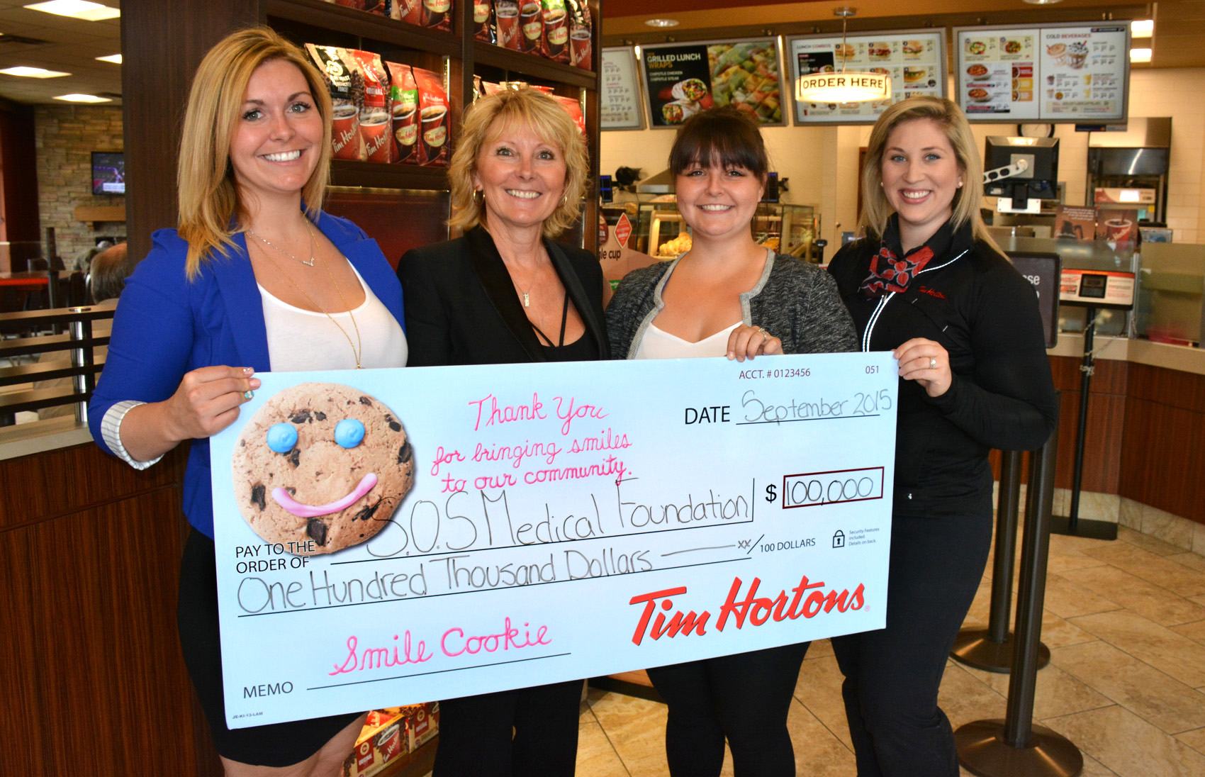 tim hortons cookies help raise money for penticton. Black Bedroom Furniture Sets. Home Design Ideas