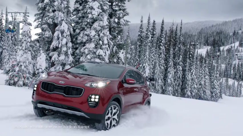 this still taken from a youtube video is part of the kia commercial that was shot last december at silver star mountain resort