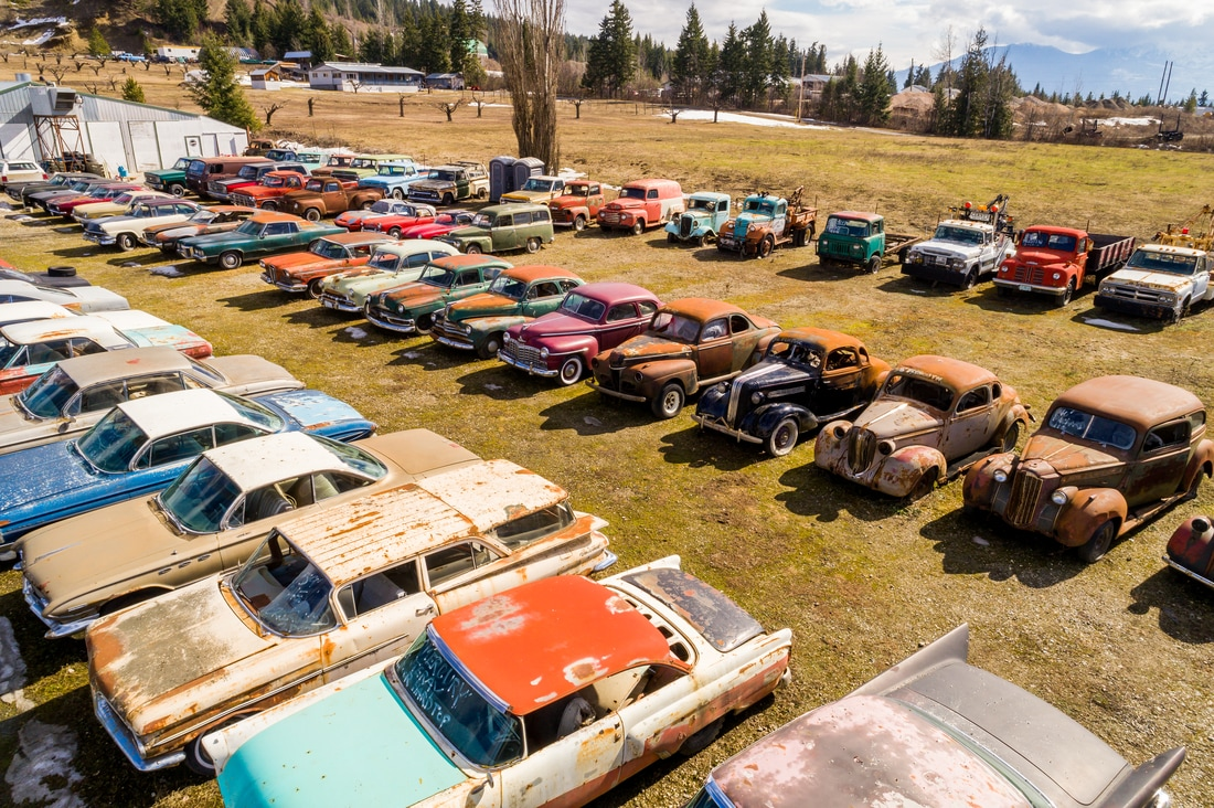 What has five acres, hundreds of classic cars and is for sale? This ...