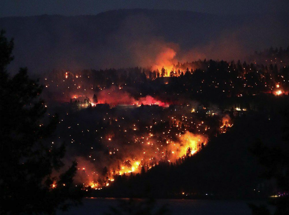 San Diego Fires Update >> UPDATED: Wildfire continues to burn in Lake Country - InfoNews