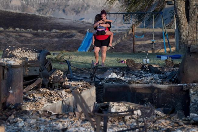 best sneakers 80dc6 70bed FILE - Kelsey Thorne holds her daughter Nevaeh Porter, 8, as they both cry  while viewing the remains of their home where they lived with her parents  that ...
