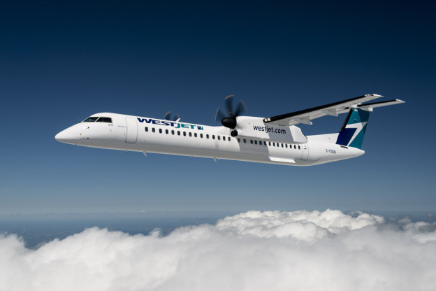 Bombardier Q400 turboprop is seen in this image from WestJet. & Transportation Safety Board to probe cause of smoky WestJet flight ...