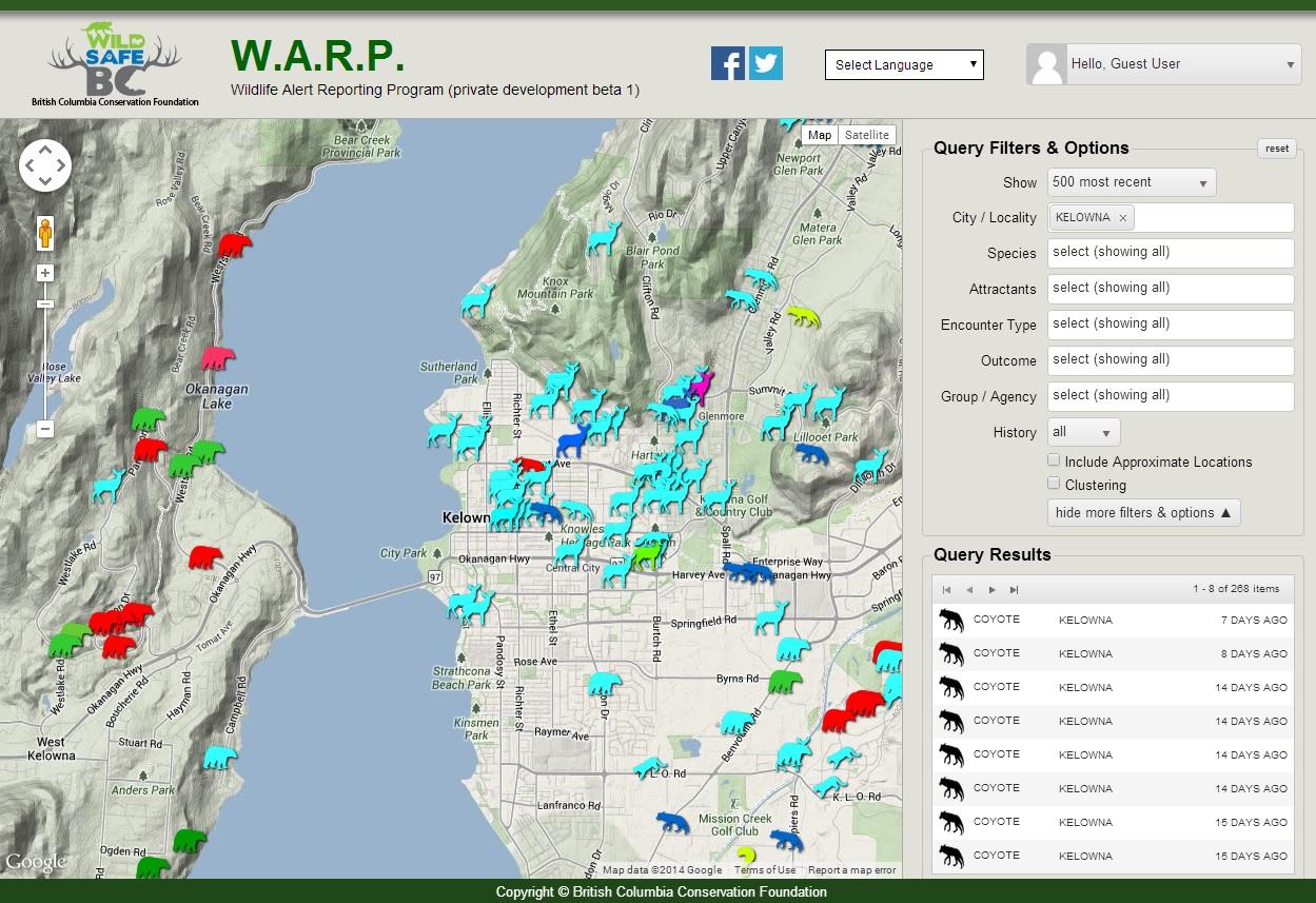 Groundbreaking wildlife alert website launched in BC - InfoNews